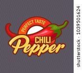 chilli pepper logo for food... | Shutterstock .eps vector #1039501624