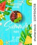 summer party poster invitation. ... | Shutterstock .eps vector #1039504258