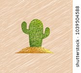 cactus  desert plant  prickly... | Shutterstock .eps vector #1039504588