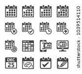 calendar appointment schedule...   Shutterstock .eps vector #1039514110