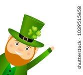 funny leprechaun for st.... | Shutterstock .eps vector #1039515658