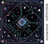 lost in space geek  | Shutterstock .eps vector #1039519036