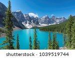 beautiful moraine lake  canada. | Shutterstock . vector #1039519744