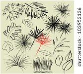 art sketching set of vector... | Shutterstock .eps vector #103952126