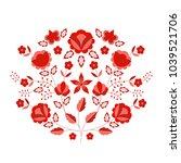 polish folk pattern vector.... | Shutterstock .eps vector #1039521706