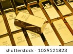 Stock photo stack of gold bars financial concepts 1039521823