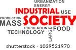 a word cloud of industrial...   Shutterstock .eps vector #1039521970