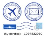 postmarks venice and stamps.... | Shutterstock . vector #1039532080