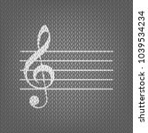 music violin clef sign. g clef. ... | Shutterstock .eps vector #1039534234