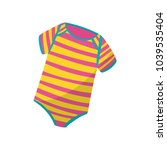 colorful striped bodysuits for... | Shutterstock .eps vector #1039535404