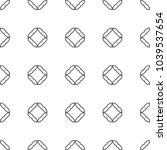 geometric ornamental vector... | Shutterstock .eps vector #1039537654
