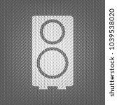 speaker sign illustration.... | Shutterstock .eps vector #1039538020