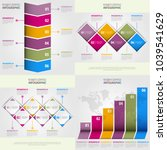 business infographics  strategy ... | Shutterstock .eps vector #1039541629