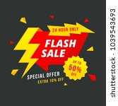 24 hour flash sale banner.... | Shutterstock .eps vector #1039543693