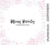 flower boutique logo template.... | Shutterstock .eps vector #1039544854