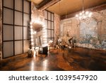 loft interior with mirror ... | Shutterstock . vector #1039547920