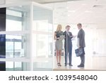 business woman standing in... | Shutterstock . vector #1039548040