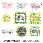 vector set of calligraphic and... | Shutterstock .eps vector #1039548328