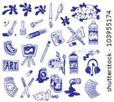 art icons | Shutterstock .eps vector #103955174