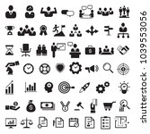 business icon set  vector   Shutterstock .eps vector #1039553056