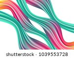 wavy abstraction in pink and... | Shutterstock .eps vector #1039553728