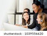 black businesswoman supervisor...   Shutterstock . vector #1039556620