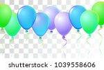 realistic helium balloons... | Shutterstock .eps vector #1039558606