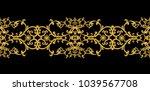 seamless pattern. golden... | Shutterstock . vector #1039567708