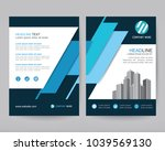 vector annual report business... | Shutterstock .eps vector #1039569130