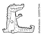cartoon happy crocodile | Shutterstock .eps vector #103957544