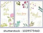 fresh modern design card of... | Shutterstock .eps vector #1039575460