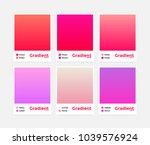 universal vector gradient set.... | Shutterstock .eps vector #1039576924