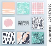 set of backgrounds with trendy... | Shutterstock .eps vector #1039576930