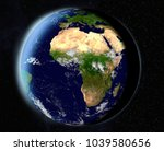 vision of the earth in outer... | Shutterstock . vector #1039580656