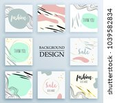set of backgrounds with trendy...   Shutterstock .eps vector #1039582834