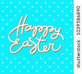 happy easter postcard template...   Shutterstock .eps vector #1039586890