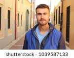 cute thirty years old man... | Shutterstock . vector #1039587133