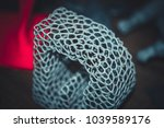 abstract object of a gray color ... | Shutterstock . vector #1039589176