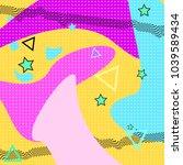 memphis pattern of geometric... | Shutterstock .eps vector #1039589434