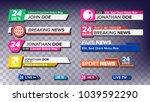 tv news bars set vector. sign... | Shutterstock .eps vector #1039592290