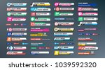 tv news bars set vector.... | Shutterstock .eps vector #1039592320