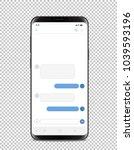 modern smartphone with blank... | Shutterstock .eps vector #1039593196