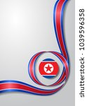 north korean flag wavy abstract ... | Shutterstock .eps vector #1039596358