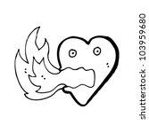 fire breathing heart cartoon | Shutterstock .eps vector #103959680