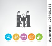 business management icons | Shutterstock .eps vector #1039601998