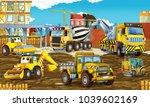 cartoon scene with different...   Shutterstock . vector #1039602169