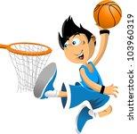 color illustration. basketball... | Shutterstock .eps vector #103960319