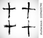 grunge religion cross . black... | Shutterstock .eps vector #1039605790