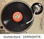 vintage record player with... | Shutterstock . vector #1039606978