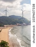 wind turbine production of...   Shutterstock . vector #1039607338
